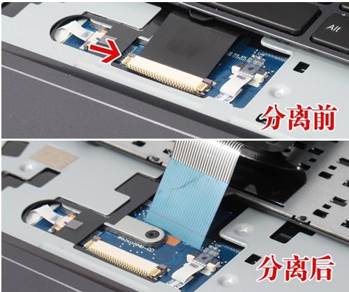 笔记本键盘需要借助连接线和主板上的接口